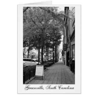 Downtown Streets in Greenville Stationery Note Card
