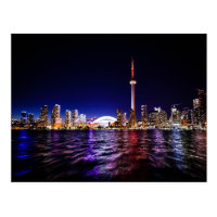 Downtown Toronto Canada cityscape at night Postcard