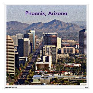 Downtown View of Phoenix Arizona Wall Decals