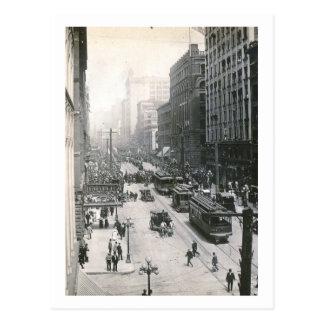 Downtown View, Seattle, Washington 1910 Vintage Postcard