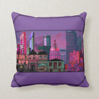 Downtown Vs. Uptown Pillow