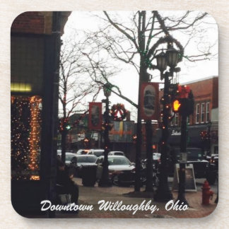 Downtown Willoughby Christmas Photo Coaster Set