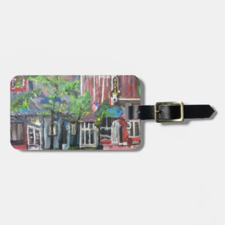 Downtown Willoughby, Ohio Painting Luggage Tag