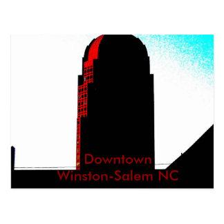 Downtown Winston-Salem NC Postcard