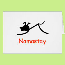 Downward Dog Namastay Card