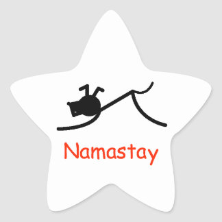 Downward Dog Namastay Star Sticker