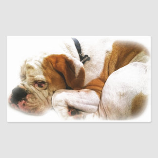 Downward Dog Rectangular Sticker