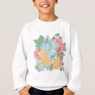 Downward Dog with Flowers Sweatshirt