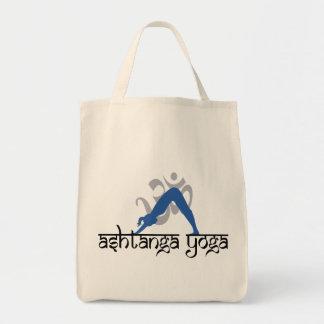 Downward Facing Dog Ashtanga Yoga Grocery Tote Bag