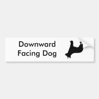 Downward Facing Dog Car Bumper Sticker