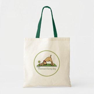 Downward Facing Dog Cartoon Tote Bag