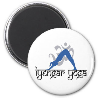 Downward Facing Dog Iyengar Yoga 2 Inch Round Magnet