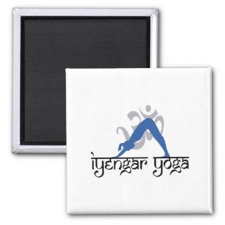 Downward Facing Dog Iyengar Yoga 2 Inch Square Magnet