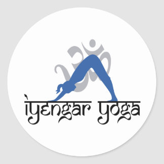 Downward Facing Dog Iyengar Yoga Classic Round Sticker