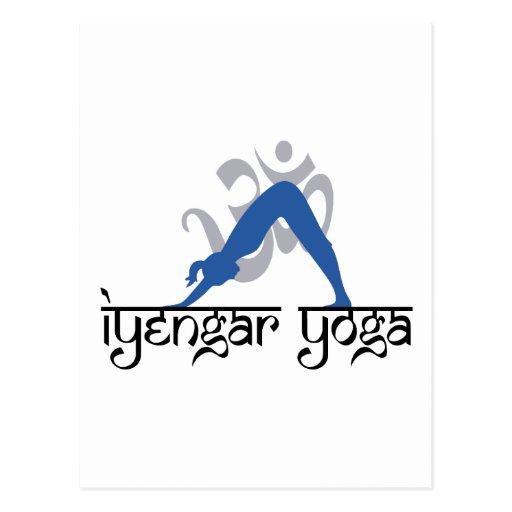 Downward Facing Dog Iyengar Yoga Post Card