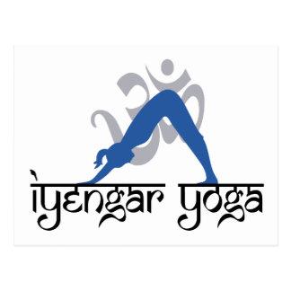 Downward Facing Dog Iyengar Yoga Postcard