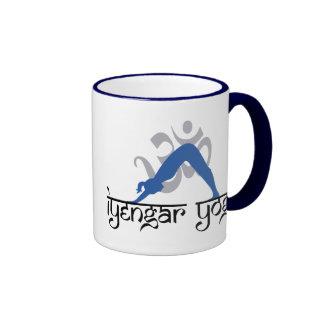 Downward Facing Dog Iyengar Yoga Ringer Coffee Mug