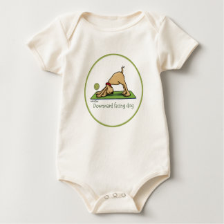 Downward Facing Dog - yoga baby Baby Bodysuit