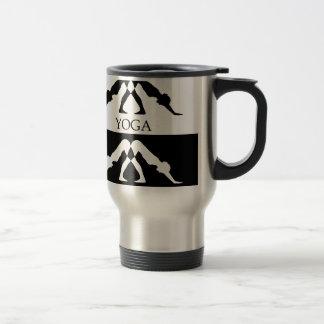downward facing dog yoga pose 15 oz stainless steel travel mug