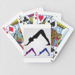 downward facing dog yoga pose bicycle playing cards