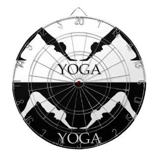 downward facing dog yoga pose dart board