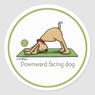 Downward Facing Dog - yoga stickers