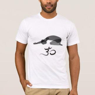 Downward pose black, om symbol T-Shirt