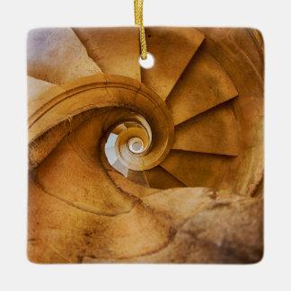 Downward spirl staircase, Portugal Ceramic Ornament