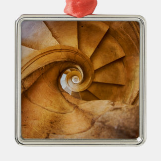 Downward spirl staircase, Portugal Metal Ornament
