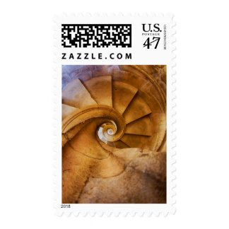 Downward spirl staircase, Portugal Postage