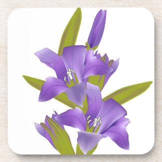 Downy Gentian Wildflower Coasters