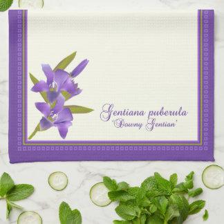 Downy Gentian Wildflower Towel