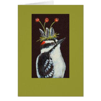 downy woodpecker card, Arthur Greeting Card