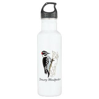 Downy Woodpecker Illustration Stainless Steel Water Bottle