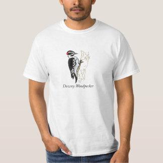 Downy Woodpecker Illustration T-Shirt