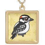 Downy Woodpecker Personalized Necklace