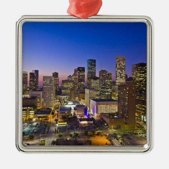 Dowtown Houston Metal Ornament
