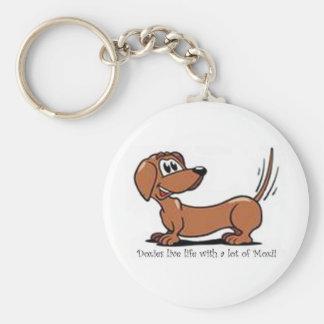 doxi live life with moxi basic round button keychain