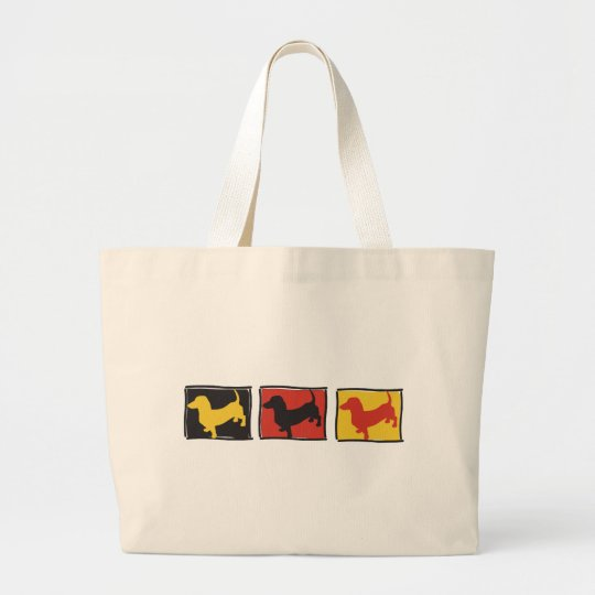 Doxie-3-BOX Large Tote Bag