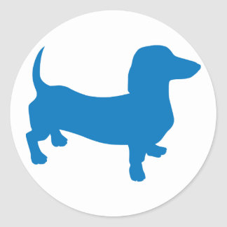 Doxie azul, Dachshund Etiqueta Redonda
