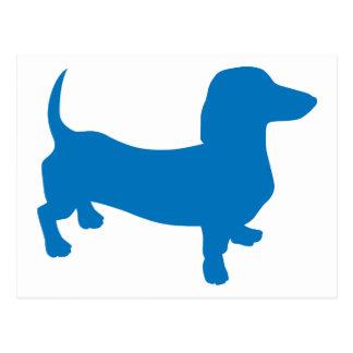 Doxie azul, Dachshund Postales
