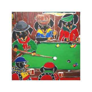 DOXIE BILLIARDS CANVAS PRINT