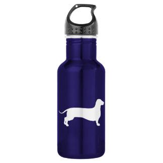 Doxie blanco botella de agua de acero inoxidable