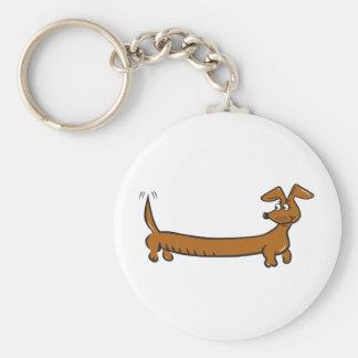 DOXIE-Cartoon Basic Round Button Keychain