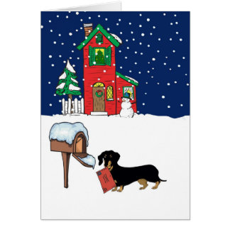 Doxie Christmas Mail Cards
