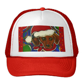 Doxie Christmas Trucker Hat