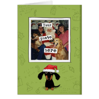 Doxie Clause Photo Template Holiday Card