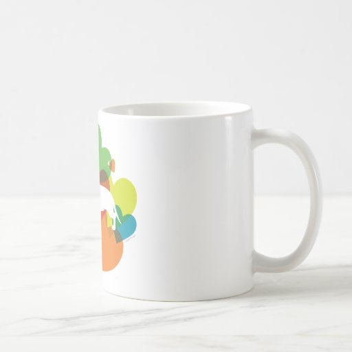 Doxie Colorful Heart Design Classic White Coffee Mug