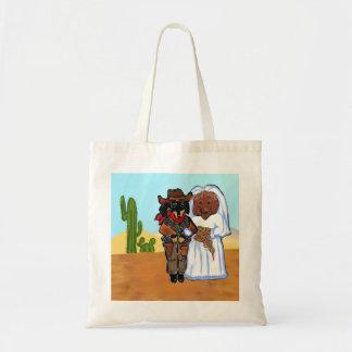 Doxie Cowboy Wedding Tote Bag