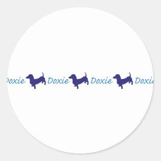 Doxie/Dachshund Classic Round Sticker